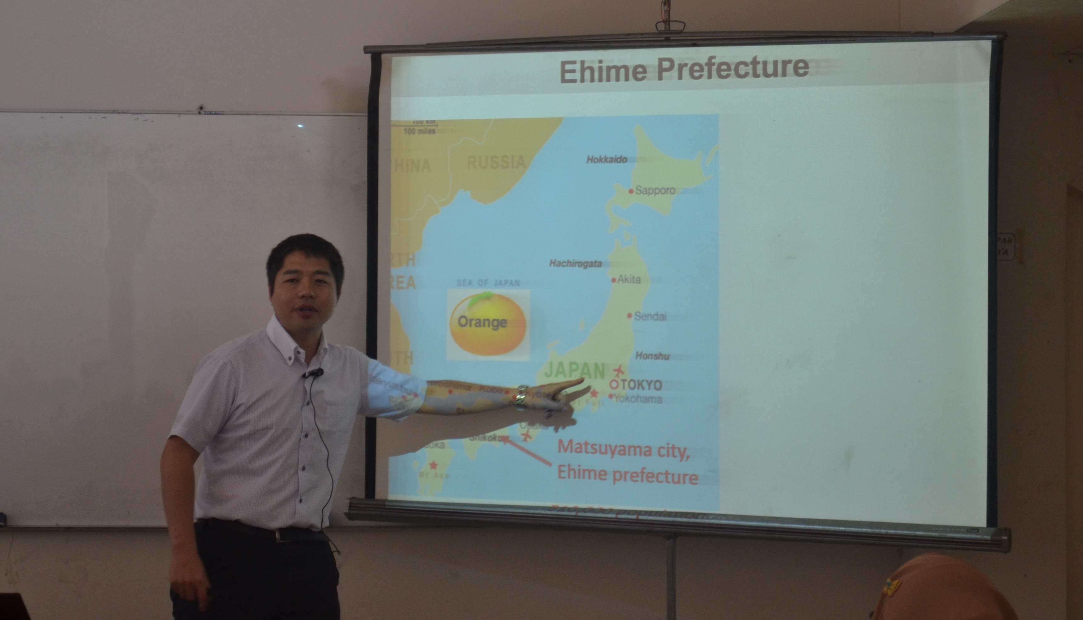 Kuliah Tamu Dr. Kozo Watanabe dari Ehime University